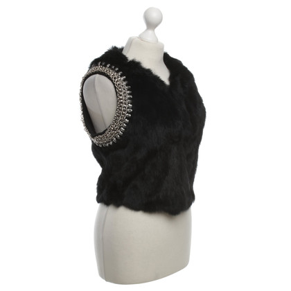 Other Designer Laure and Joe - fur vest in black