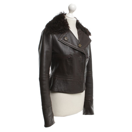 Alessandro Dell'Acqua Leather jacket in brown