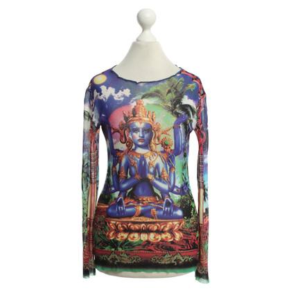 Jean Paul Gaultier top with motif print