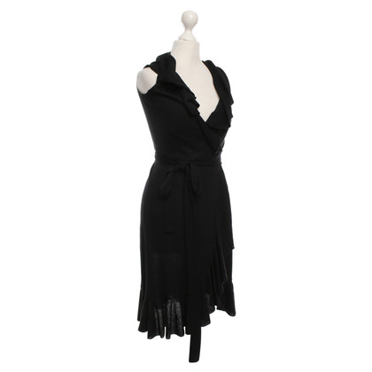 Red Valentino Wrap dress in black