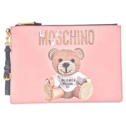 Moschino clutch in pink