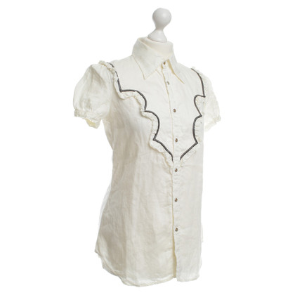 Dsquared2 White blouse made of linen