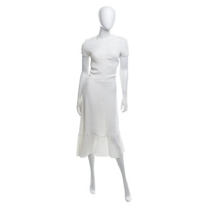Rochas Robe en soie en blanc