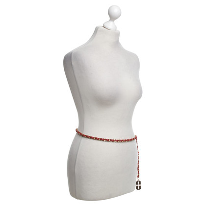 Chanel Chain belt in red / gold