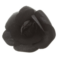 Chanel Camellia brooch in black