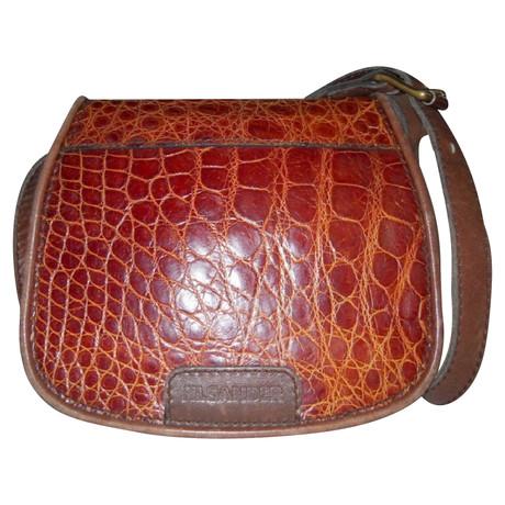 Amazon Footaction Jil Sander Vintage Tasche aus Krokoleder Braun Erkunden Günstigen Preis Kauf j1gqkDp4