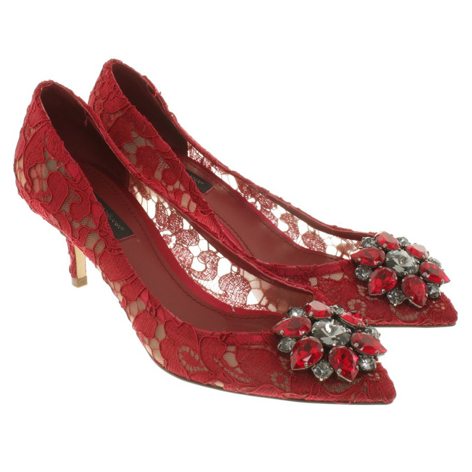 Dolce & Gabbana Pumps in Rot