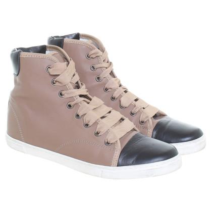 Lanvin Sneakers in Braun/Schwarz