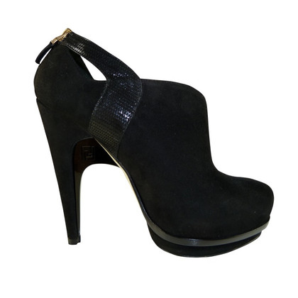 Fendi Ankle boots Black Suede