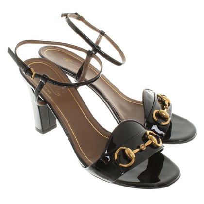 Gucci Patent leather sandals