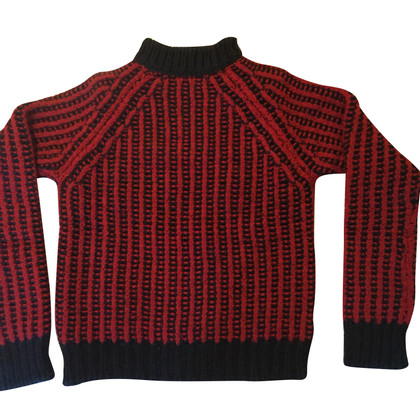 Costume National Cozy warm black and red knit