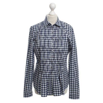 Van Laack Blouse with checked pattern