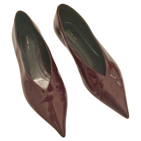Céline Lackleder-Ballerinas Bordeaux Shop Für Online Ebay Freies Verschiffen 100% Original QsMF6ygZ