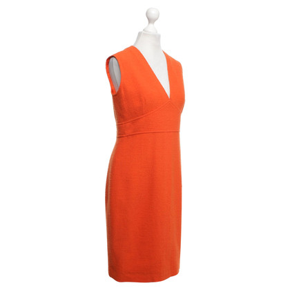 Chanel Bouclé-Kleid in Orange
