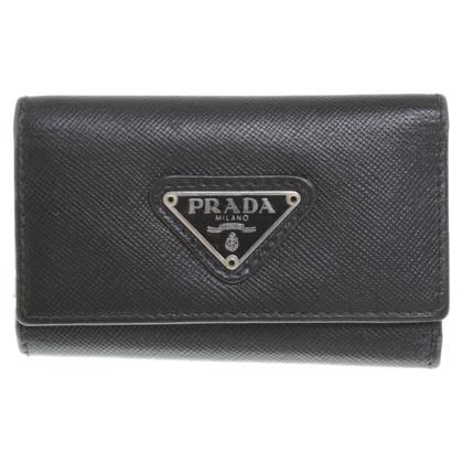 Prada Key Holder in black