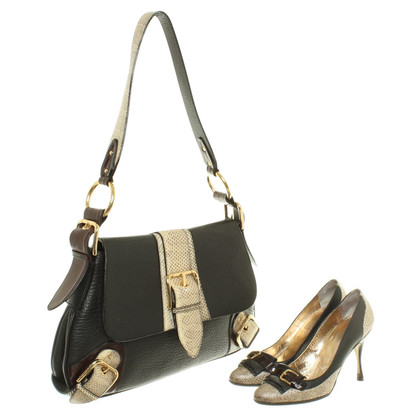 Dolce & Gabbana pumps & exotic leather trim bag