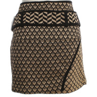 Kenzo Wrap skirt with gold pattern