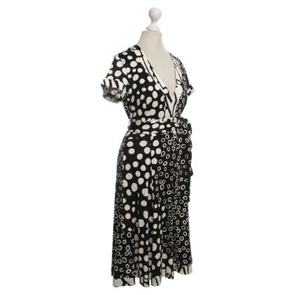 Issa Jersey-Kleid in Schwarz/Weiß