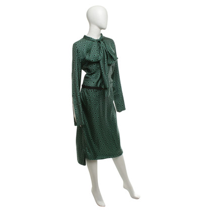Marni Gedessineerde jurk in zwart / Groen