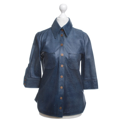 Fendi Blouse in blue leather