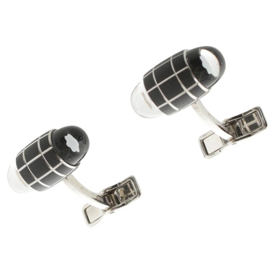 mont blanc boutons de manchettes noir argent acheter mont blanc boutons de manchettes noir