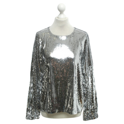 Michael Kors Silver-colored sequin pullover