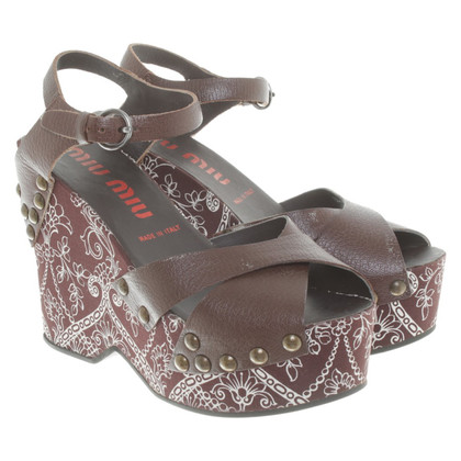 Miu Miu Wedges with pattern print
