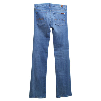 7 For All Mankind Bootcut Jeans in Blau