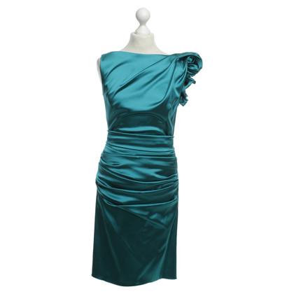 Talbot Runhof Gedrapeerd satijnen jurk