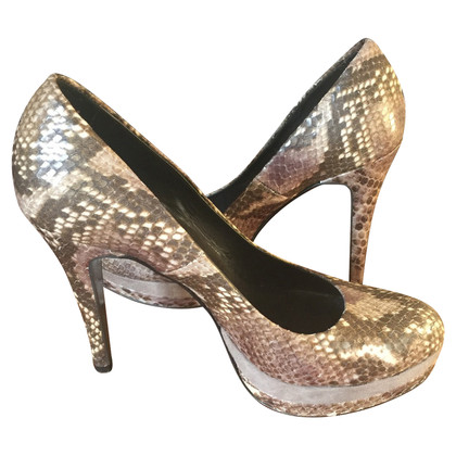 Baldinini Shoes leather reptile effect