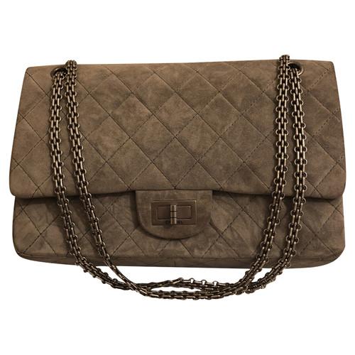livraison gratuite 556d4 5eee4 Chanel Sac à main en Daim en Gris - Acheter Chanel Sac à ...