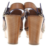 L'autre Chose Wedges in brown