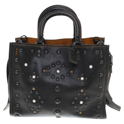 Coach Leather handbag in black