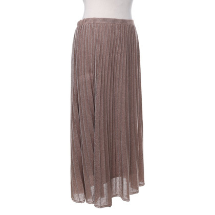 Maliparmi Pleated skirt in ocher