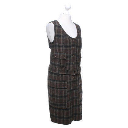 Strenesse Blue Sleeveless dress with plaid pattern