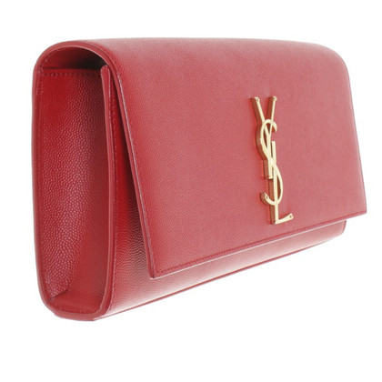 Yves Saint Laurent clutch in red