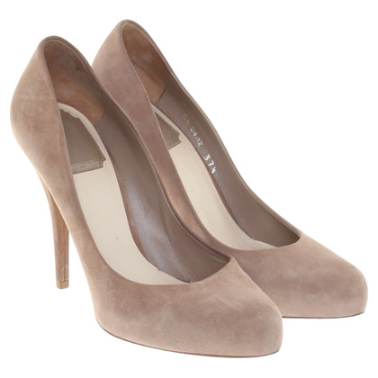 Christian Dior nude coloured pumps