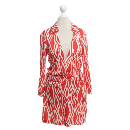 Diane von Furstenberg Jumpsuit in red / white