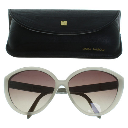 Linda Farrow Sunglasses with reptile details