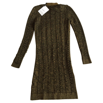 Balmain Bronze viscose dress measures 38 FR