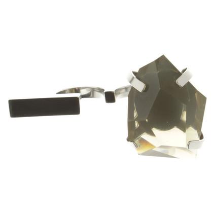 By Malene Birger Doppio anello in argento