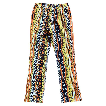 Jeremy Scott for Adidas trousers with animal print