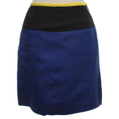 Versace skirt in yellow / black / blue