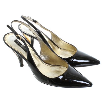 Dolce & Gabbana Sling-pumps made of patent leather
