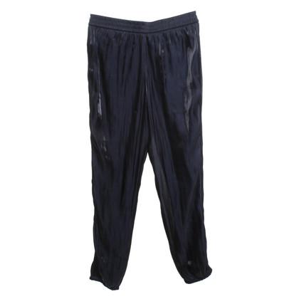 Marc Cain Elegant trousers in dark blue