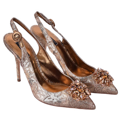 Dolce & Gabbana Gold colored slingbacks