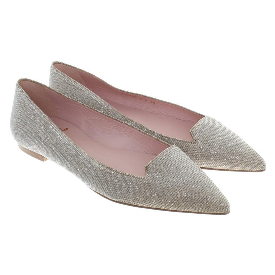andere marke pretty loafers goldfarbene ballerinas second hand andere marke pretty loafers. Black Bedroom Furniture Sets. Home Design Ideas