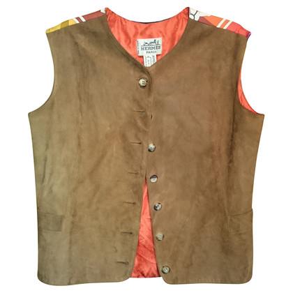 Hermès Vest gemaakt van zijde/leder