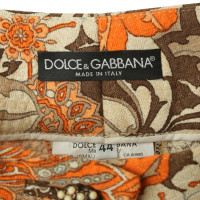 Dolce & Gabbana Trousers with flower patterns