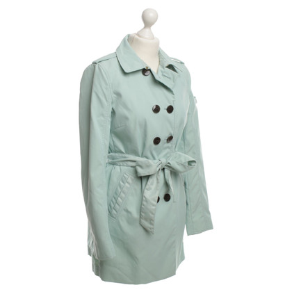 Peuterey Trench coat in bright turquoise